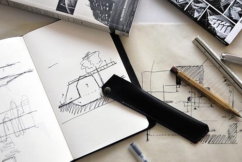 本相造物所 | 設計師系列 - 幾何線筆套(黑)