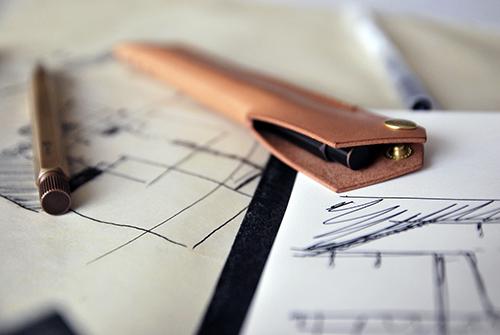 本相造物所 | 設計師系列 - 幾何線筆套(棕)