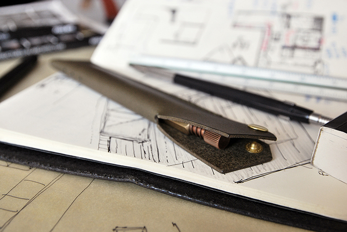本相造物所 | 設計師系列 - 幾何線筆套(橄欖綠)