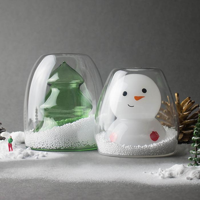 聖誕系列-聖誕樹雙層杯