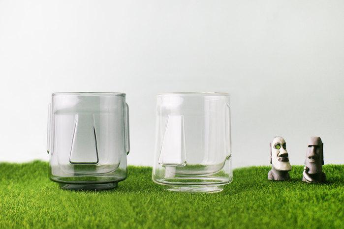 摩艾雙層杯兩入組(清透&透黑)