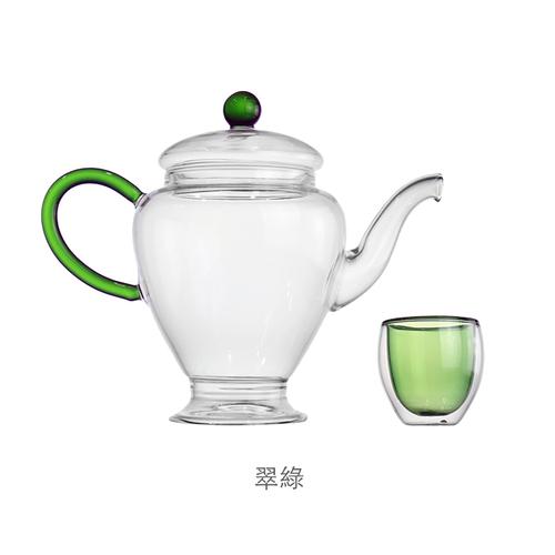 紅琉璃|飲君子茶具組(綠色)