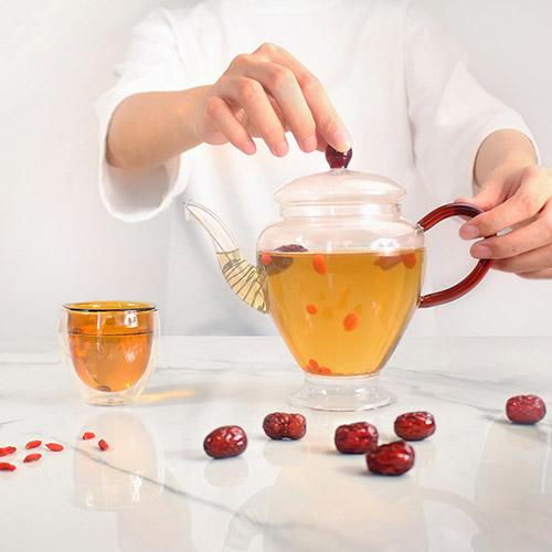 紅琉璃 飲君子茶具組(琥珀)