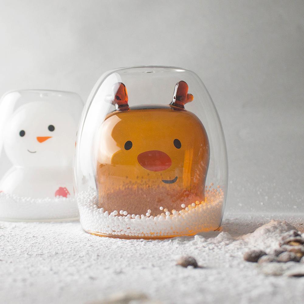 好玻 GOODGLAS|聖誕系列-麋鹿雙層杯