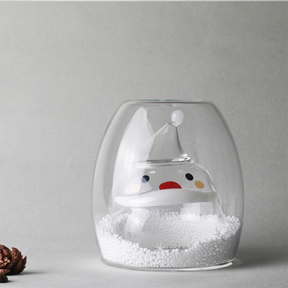 好玻GOODGLAS 聖誕系列-聖誕老公公雙層玻璃杯
