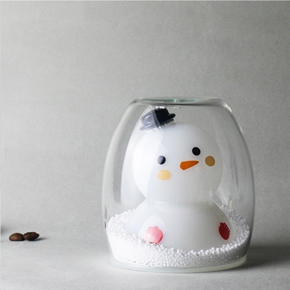 好玻GOODGLAS | 聖誕系列-雪人雙層玻璃杯