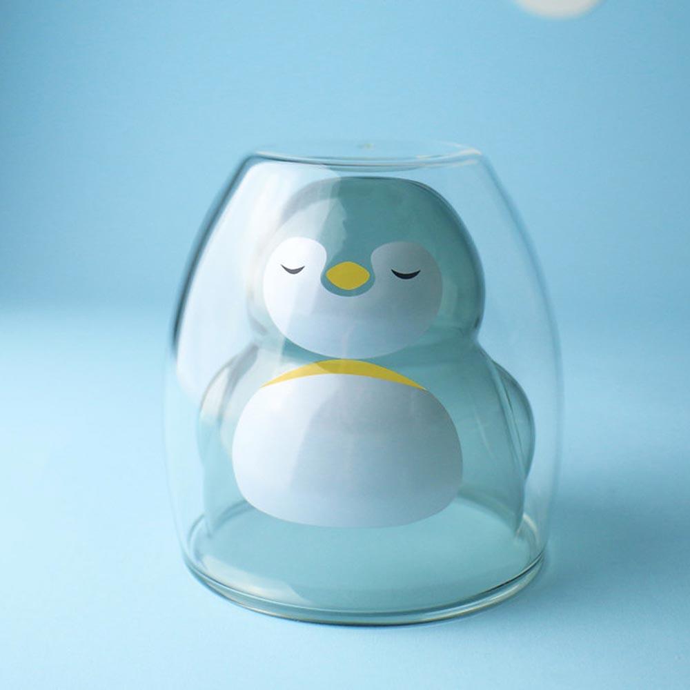 好玻 GOODGLAS 企鵝雙層杯-透黑
