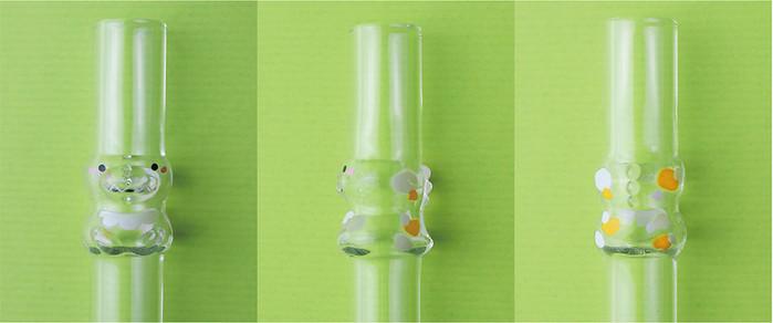 好玻 GOODGLAS|Dino Girl恐龍造型玻璃吸管-清透