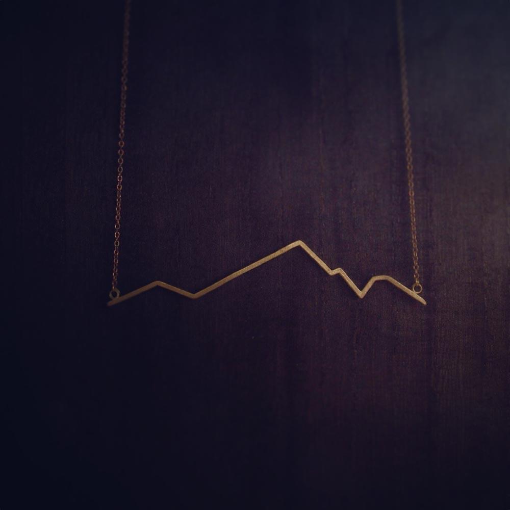 INTZUITION 以覺學|Beats 悸 -金工手工黃銅項鍊 Brass necklace