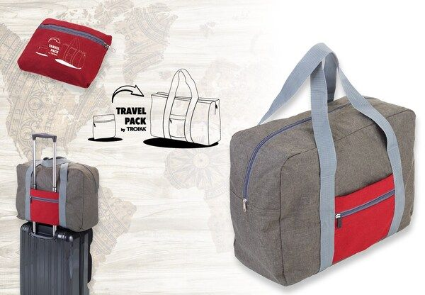(複製)TROIKA | 快速摺疊收納旅行袋(紅灰色)