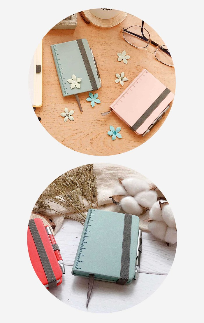 TROIKA|隨身寫筆記本(含迷你多功能工具筆)(玫瑰粉)