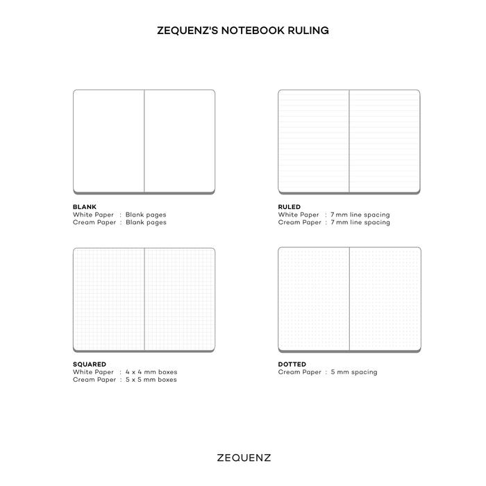 ZEQUENZ|360度背靠背筆記本 A6點陣橫線內頁