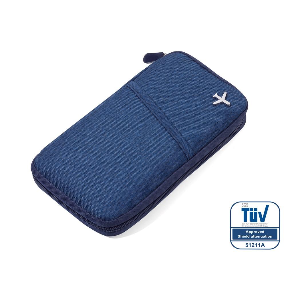 TROIKA   RFID屏障護照夾(藍色)
