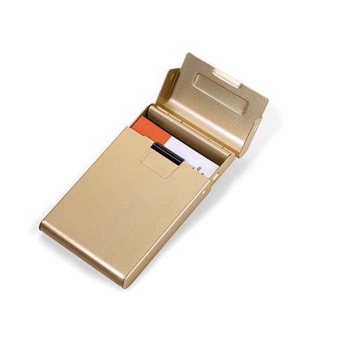TROIKA|簡便滾動立名片夾(金色)