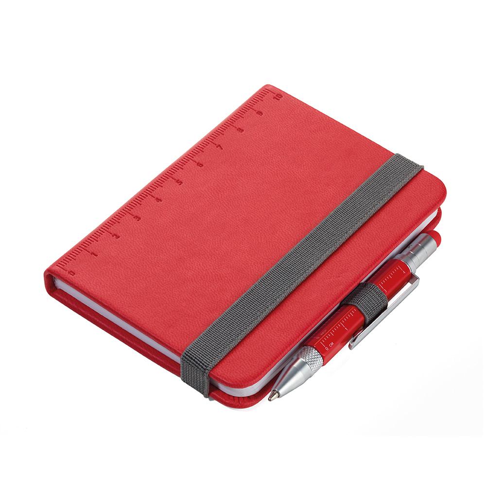 TROIKA|隨身寫筆記本(贈迷你多功能工具筆)(紅色)