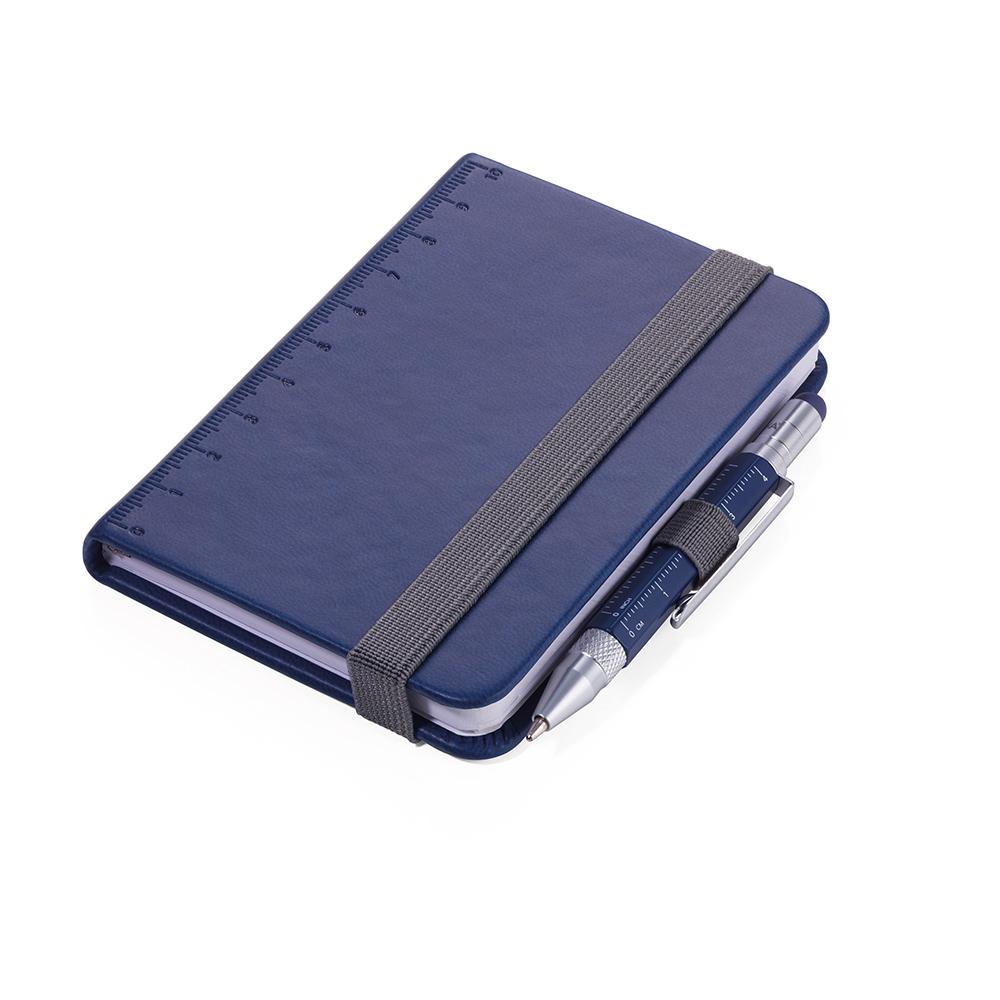 TROIKA|隨身寫筆記本(含迷你多功能工具筆)(藍色)