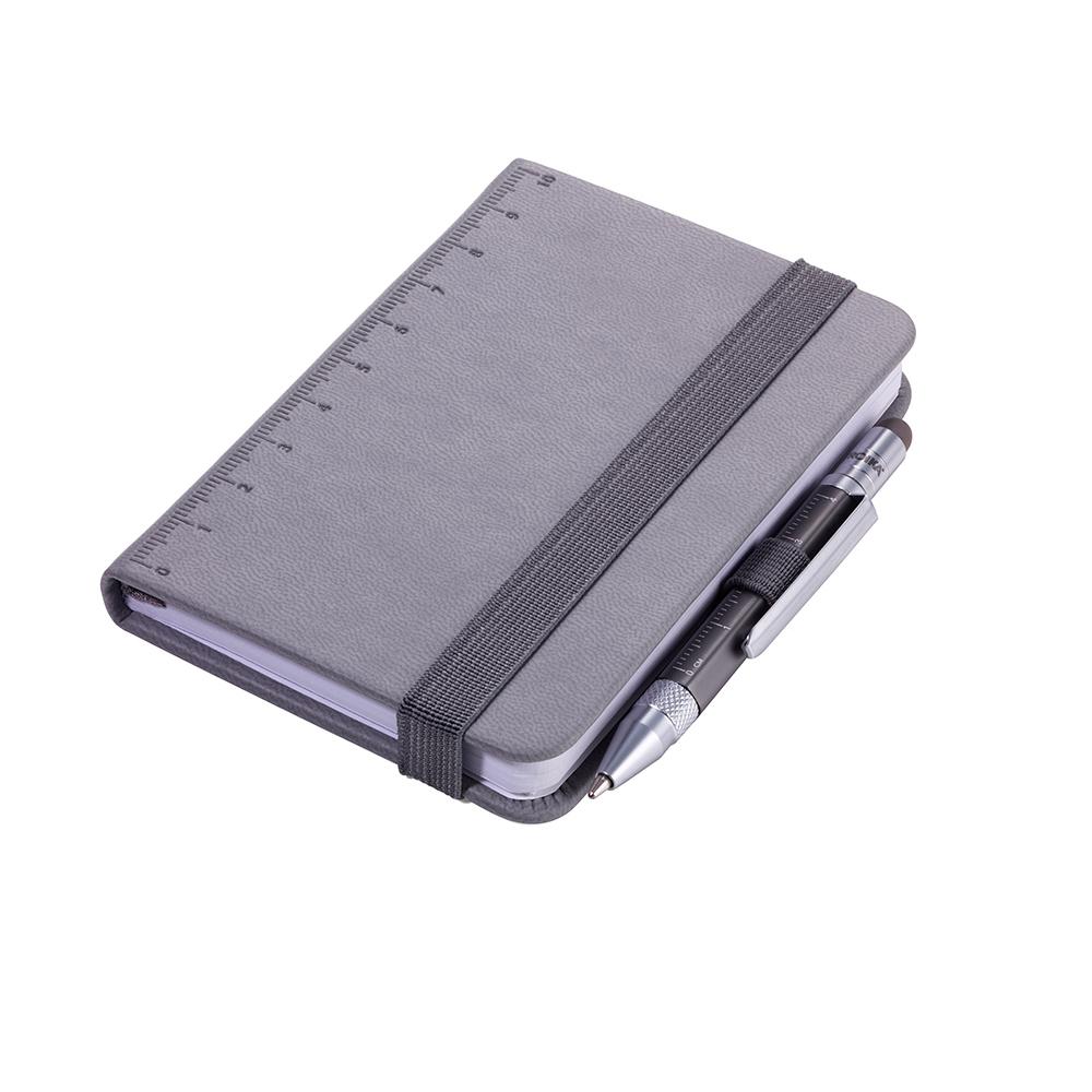 TROIKA|隨身寫筆記本(含迷你多功能工具筆)(灰色)
