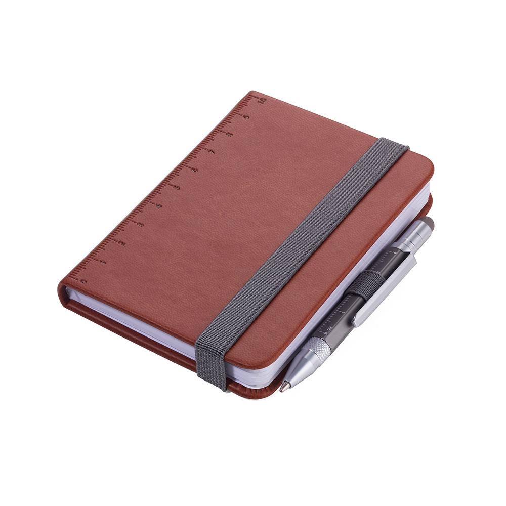 TROIKA 隨身寫筆記本(含迷你多功能工具筆)(棕色)
