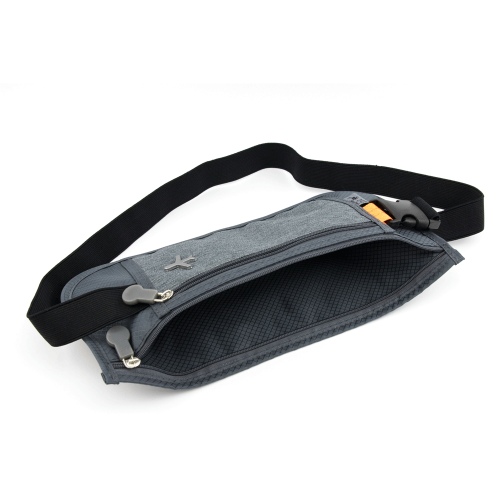 TROIKA|  RFID NFC 屏障旅遊隨身包 (灰色)