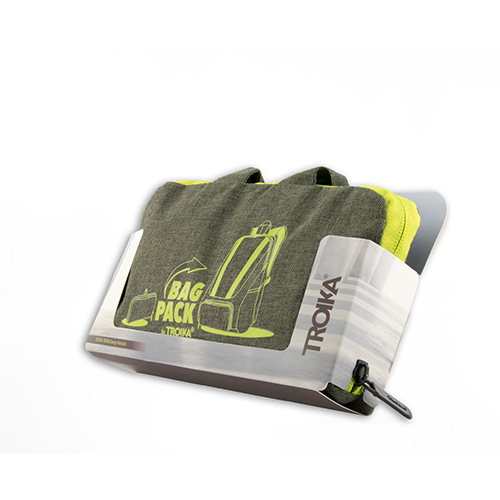TROIKA|158公克超輕量摺疊收納背包(綠色)