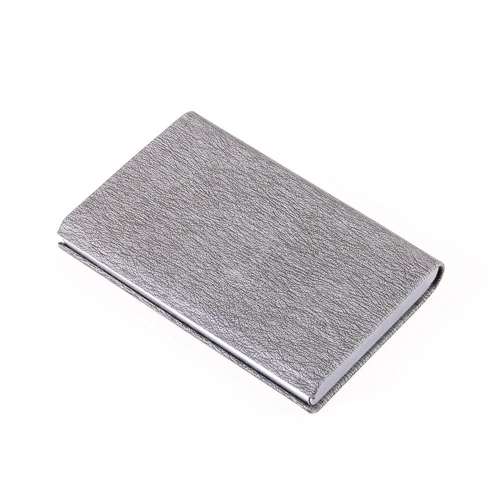 TROIKA | 金屬皮革RFID卡夾 (灰色)