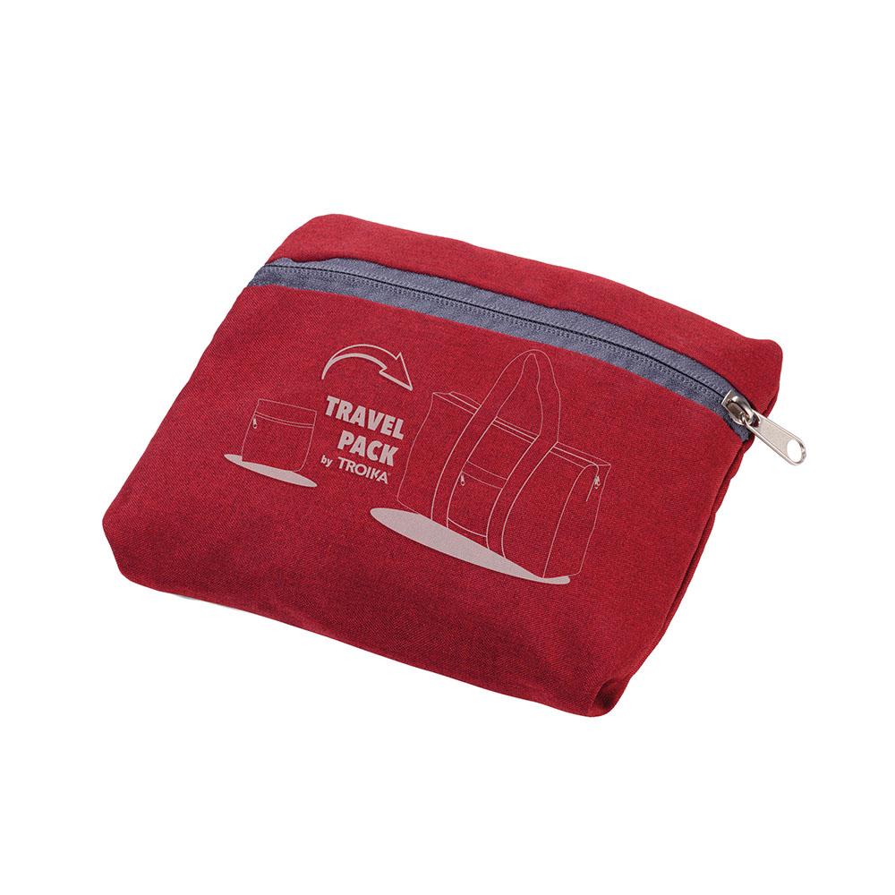 TROIKA | 快速摺疊收納旅行袋(紅灰色)