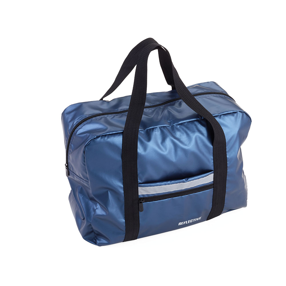 TROIKA   快速摺疊收納旅行袋(藍色反光材質)