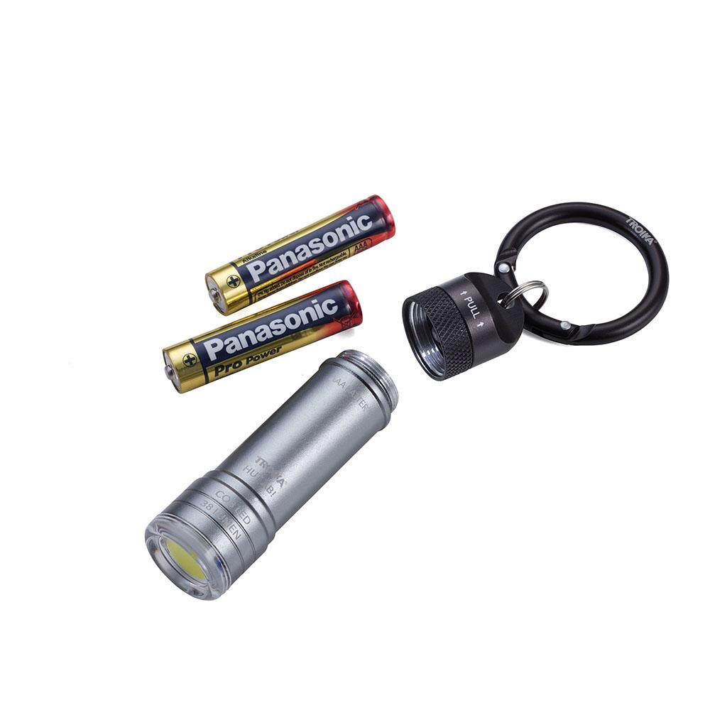 TROIKA|鋁合金HUT AB!隨身COB-LED小手電筒_附登山扣式鑰匙圈