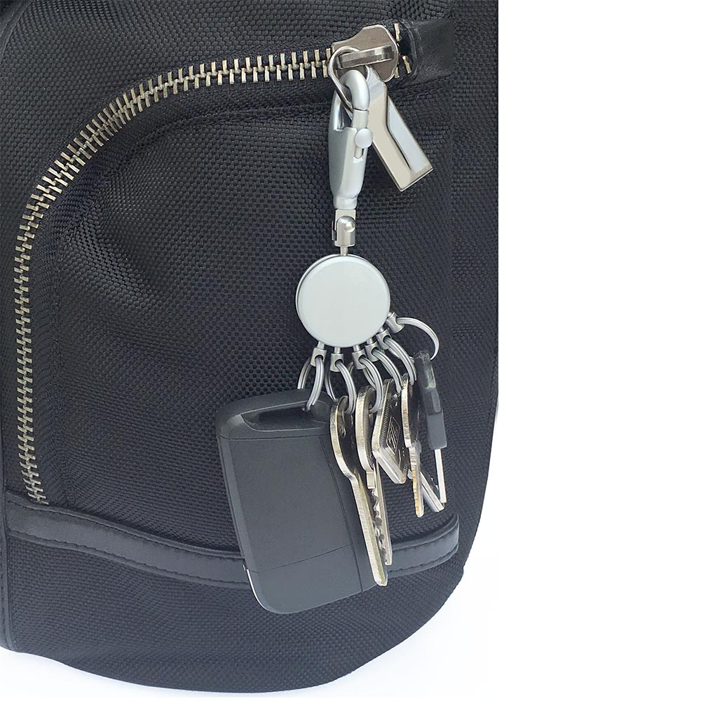 TROIKA|不傷手一鍵更換可拆式鑰匙圈(亮鉻色)