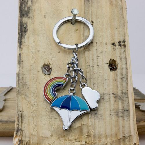 TROIKA|雨天的彩虹天氣鑰匙圈