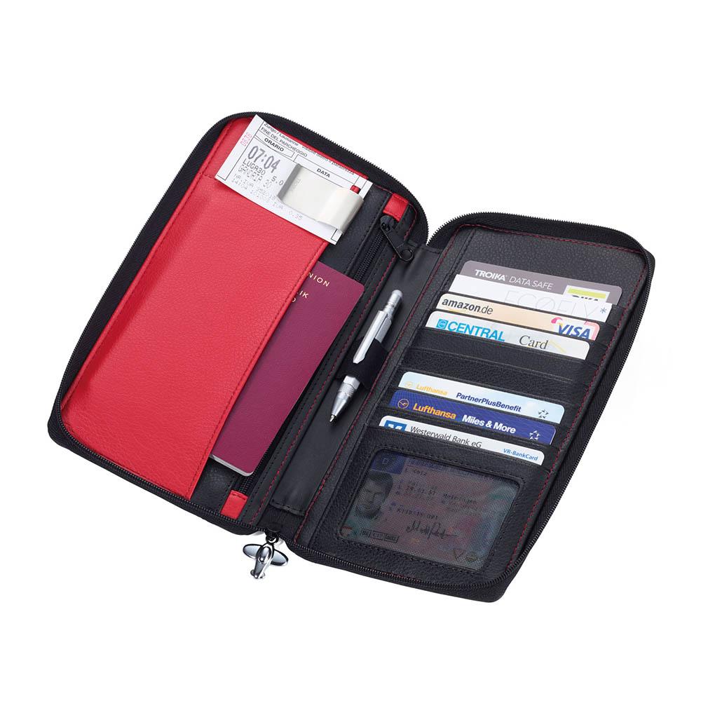 TROIKA| RFID防盜刷嗆辣紅椒證件真皮收納包夾