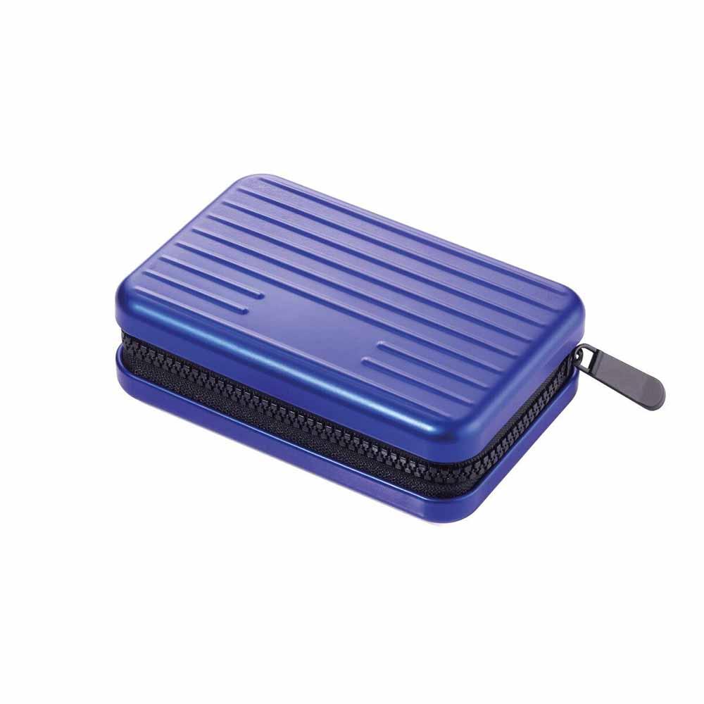 TROIKA|RFID 個資防盜硬殼卡夾零錢夾(藍)