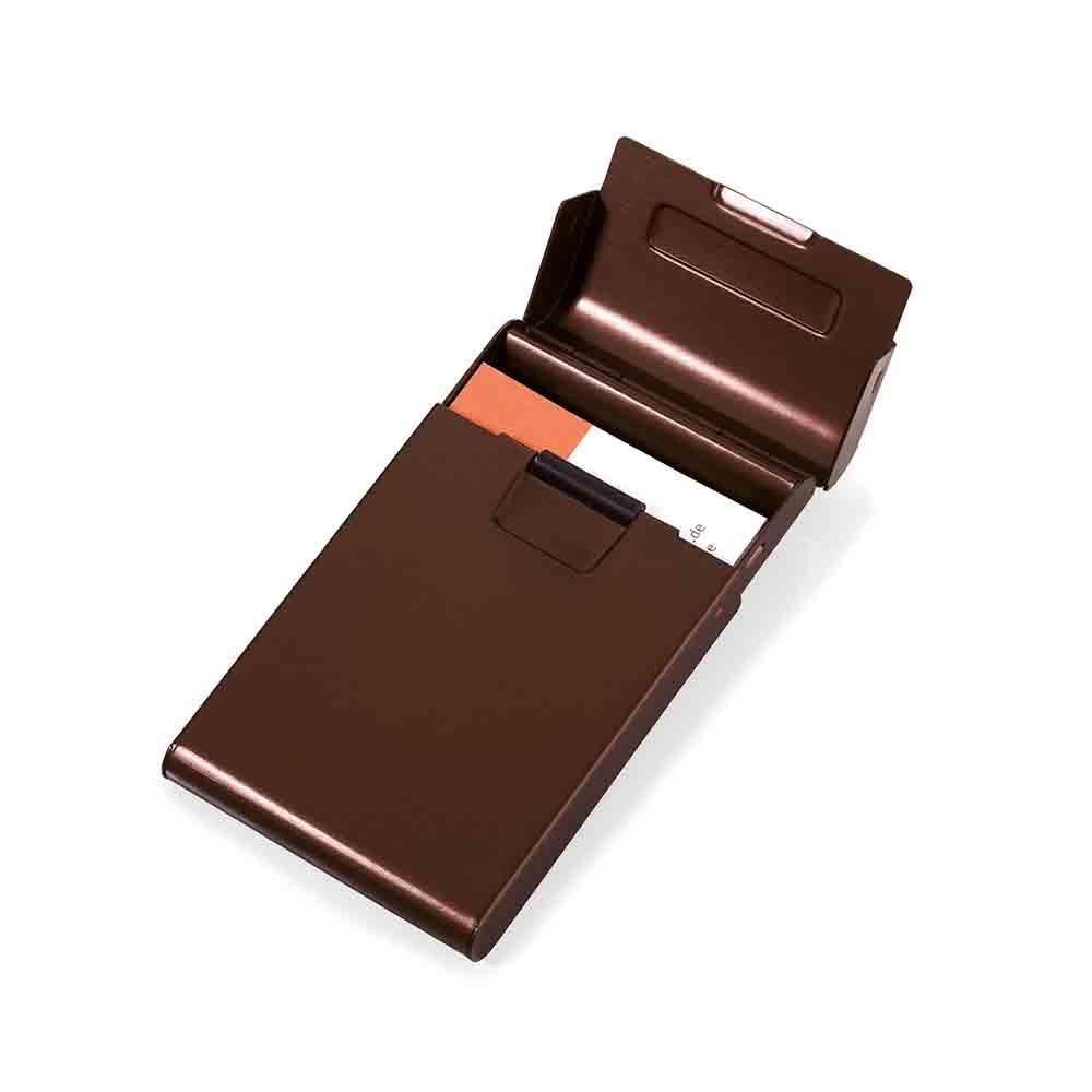 TROIKA|滾輪推推名片盒(咖啡色)