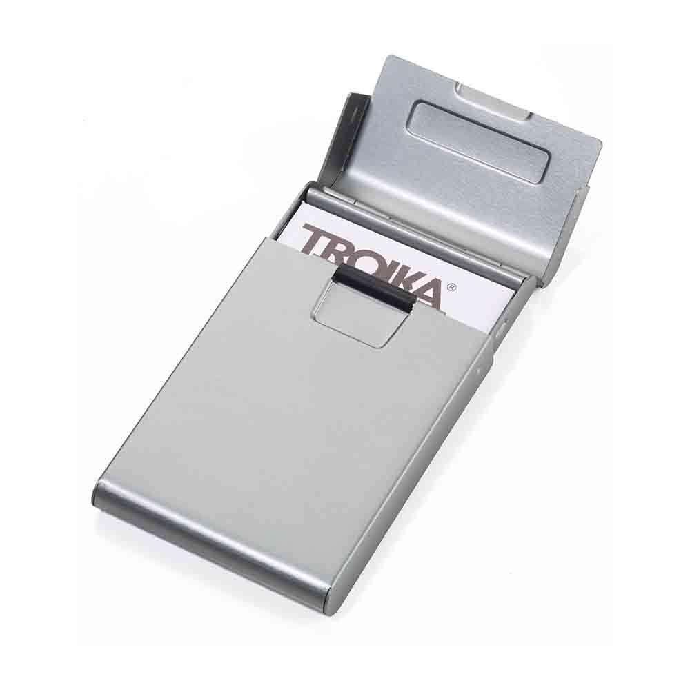 TROIKA|滾輪推推名片盒(鈦色)