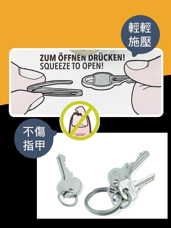 TROIKA FREEKEY® SYSTEM專利護甲鑰匙圈