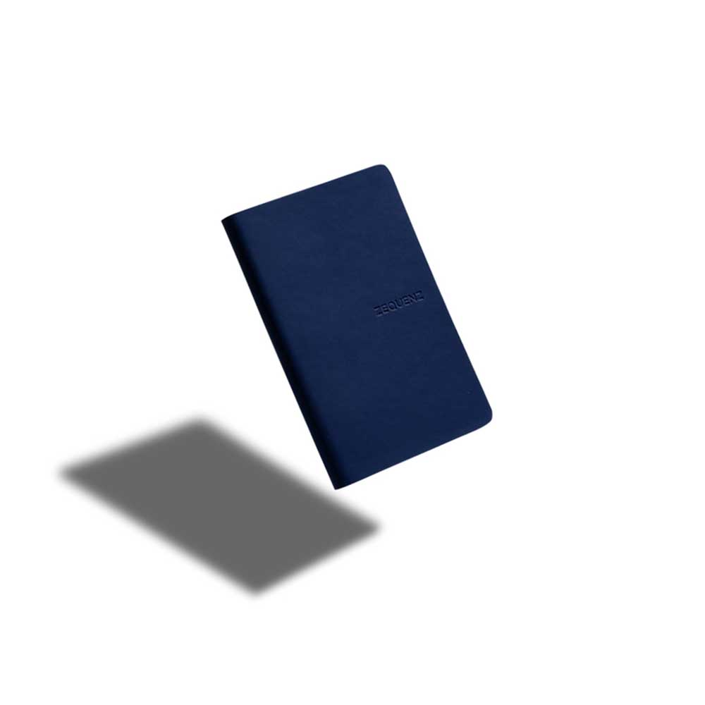 ZEQUENZ|360° 可捲曲筆記本/繽紛系列 (A6/深海軍藍色)