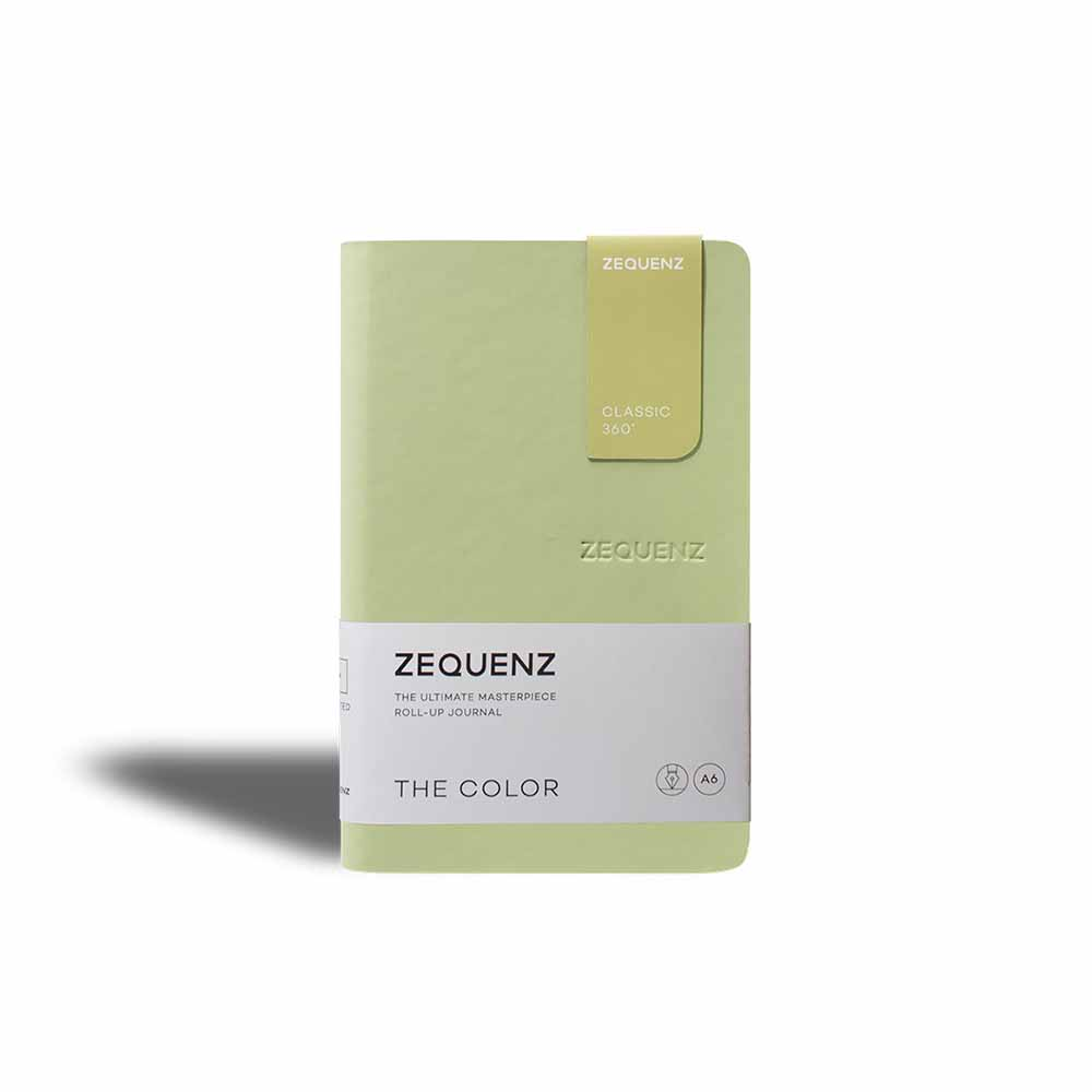 ZEQUENZ 360° 可捲曲筆記本/繽紛系列 (A6/橄欖綠)