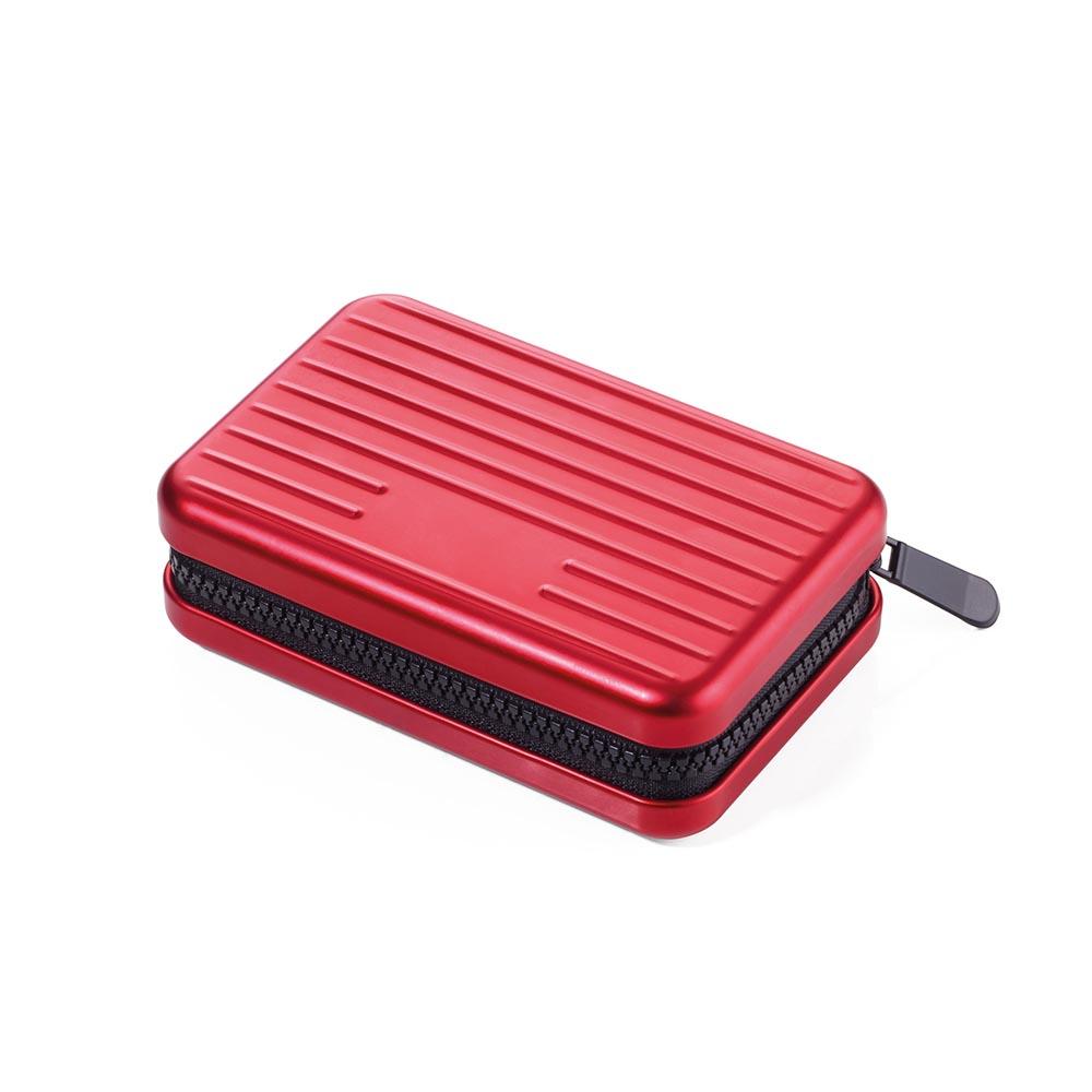 TROIKA RFID 個資防盜硬殼卡夾零錢夾(紅)