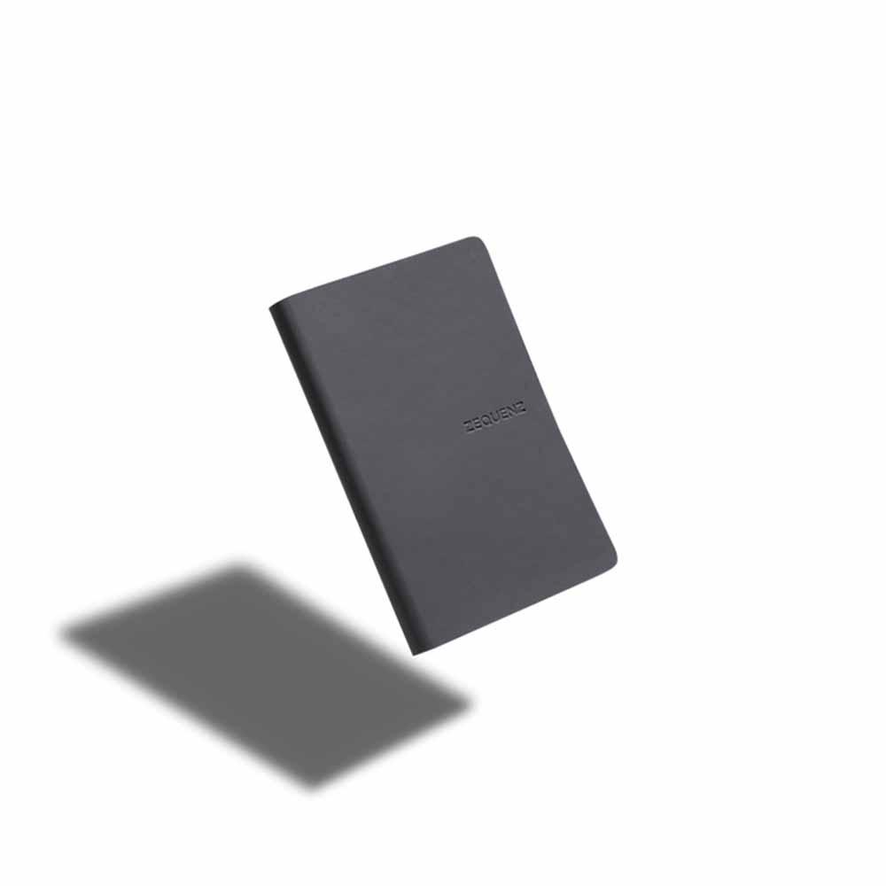 ZEQUENZ|360° 可捲曲筆記本/繽紛系列 (B6/灰黑色)