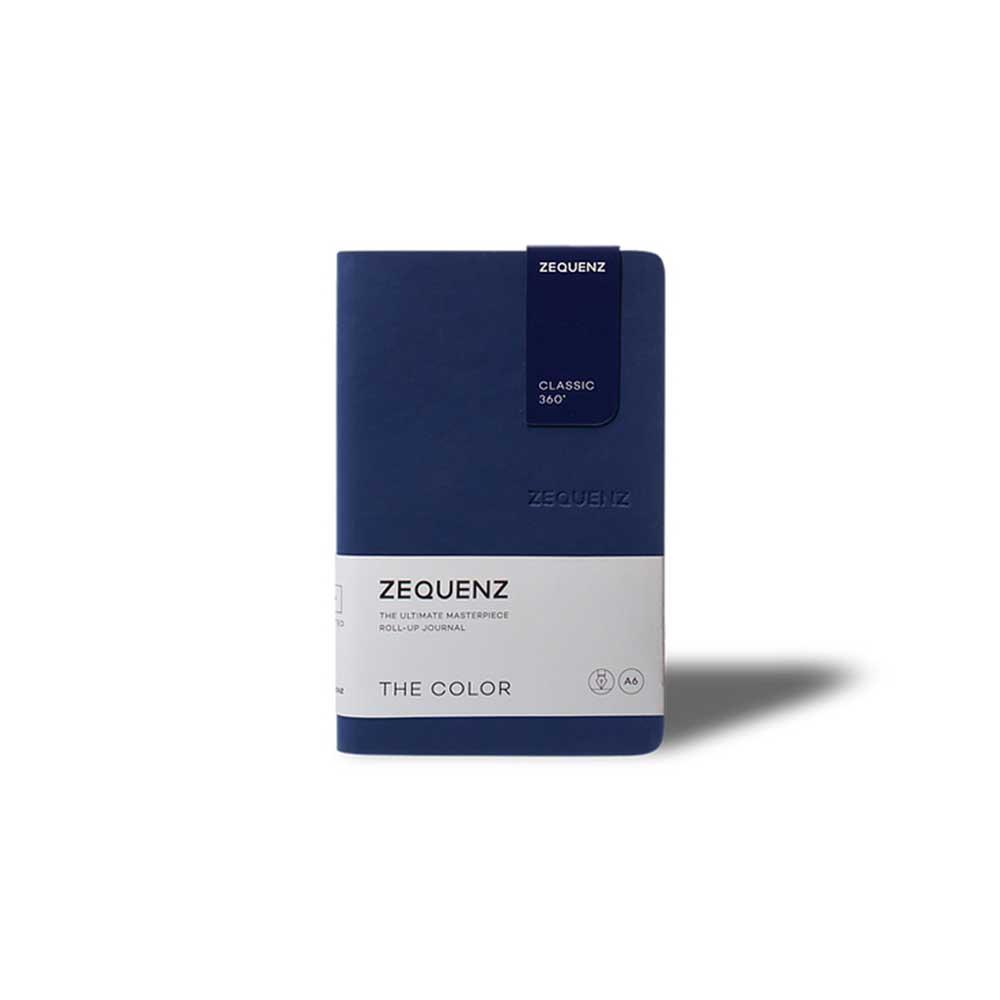 ZEQUENZ 360° 可捲曲筆記本/繽紛系列 (B6/深海軍藍)