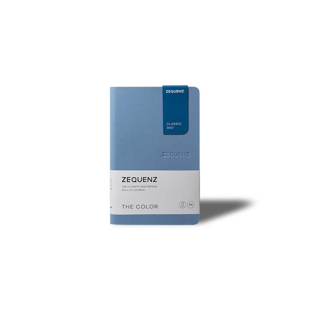 ZEQUENZ|360° 可捲曲筆記本/繽紛系列 (B6/淡藍)