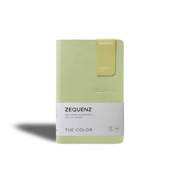 ZEQUENZ|360° 可捲曲筆記本/繽紛系列 (A5/橄欖綠)