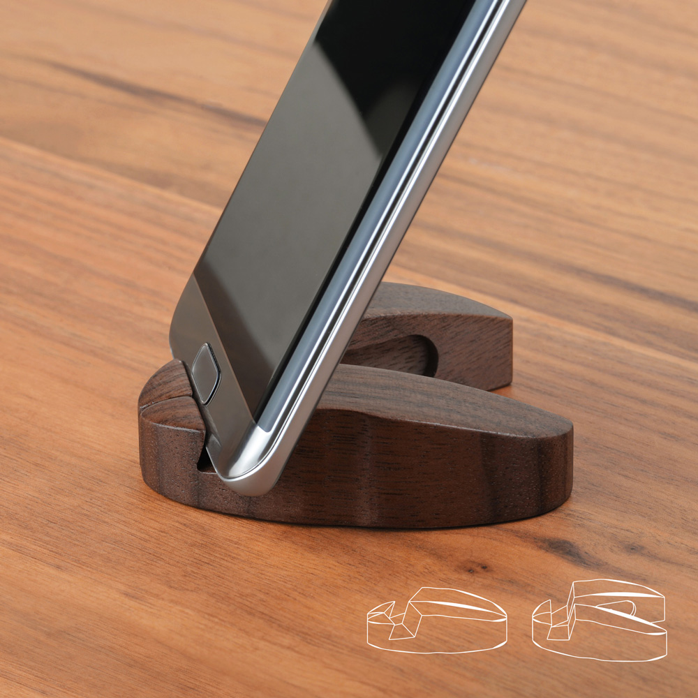 dStand 瓢蟲造型 胡桃木手機架(2入組)