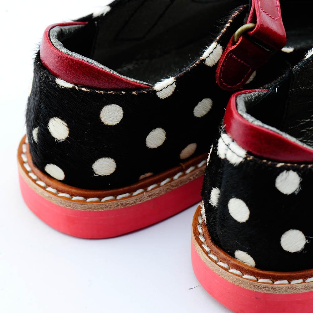 Beven Smiley|MIT全真皮兒童瑪麗珍娃娃鞋-馬毛款(黑色)