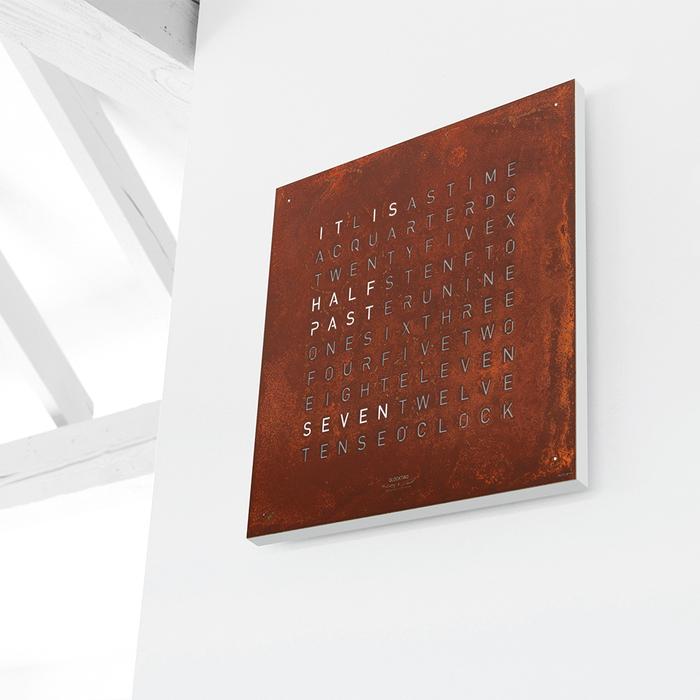 (複製)QLOCKTWO|Classic 現代極簡精鋼掛鐘-Stainless steel