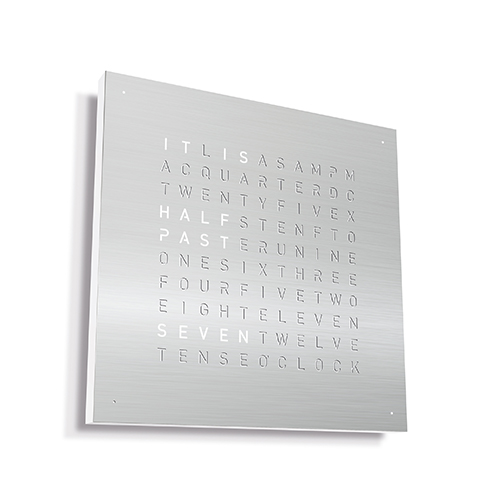 QLOCKTWO|Classic 現代極簡精鋼掛鐘-Stainless steel