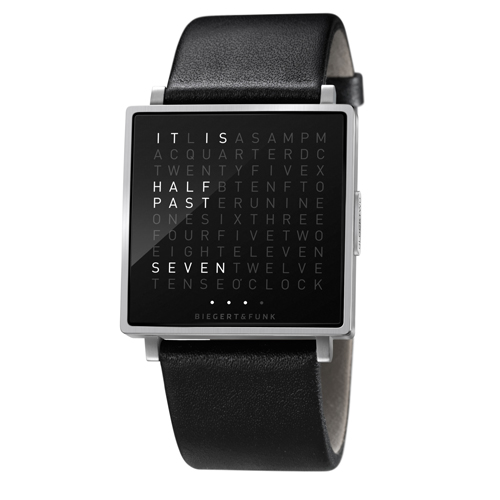 QLOCKTWO|極簡精鋼腕錶(亮面)
