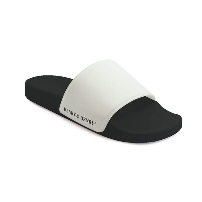 Henry&Henry | 義大利POOL SLIDER拖鞋  黑x白