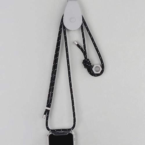 Topologie 背帶便攜式手機殼(Iphone 11/11 pro) 反光黑