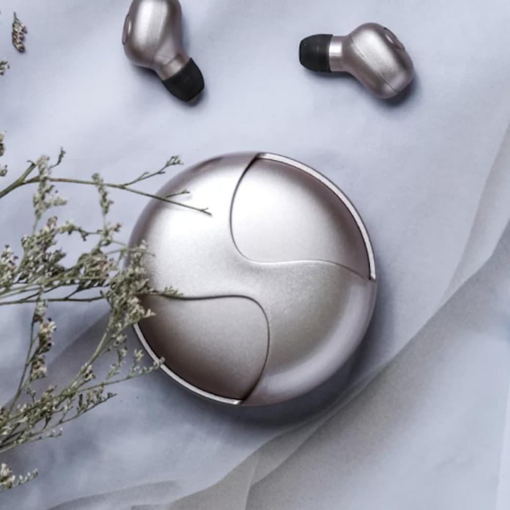 【集購】韓國 ISAAC|無線藍牙時尚粉餅耳機(多色任選)